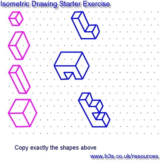 how to teach autographic and isometric drawings