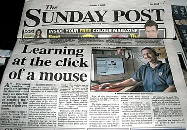 photo of Sunday Post article, 1st October 2006